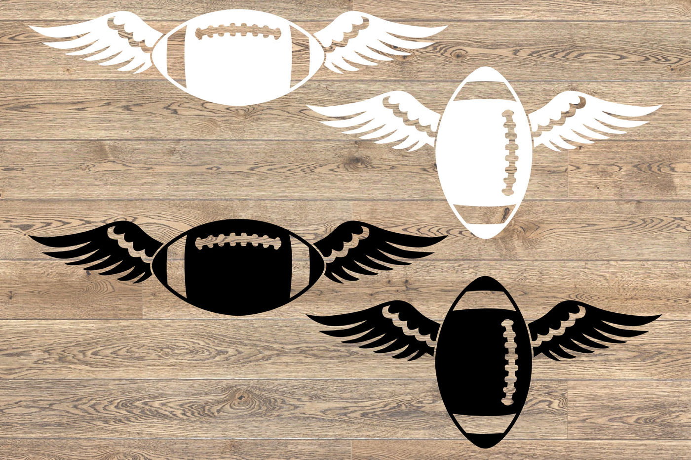 Football Wings Svg Valentine S Day Angel Feathers 1199s By