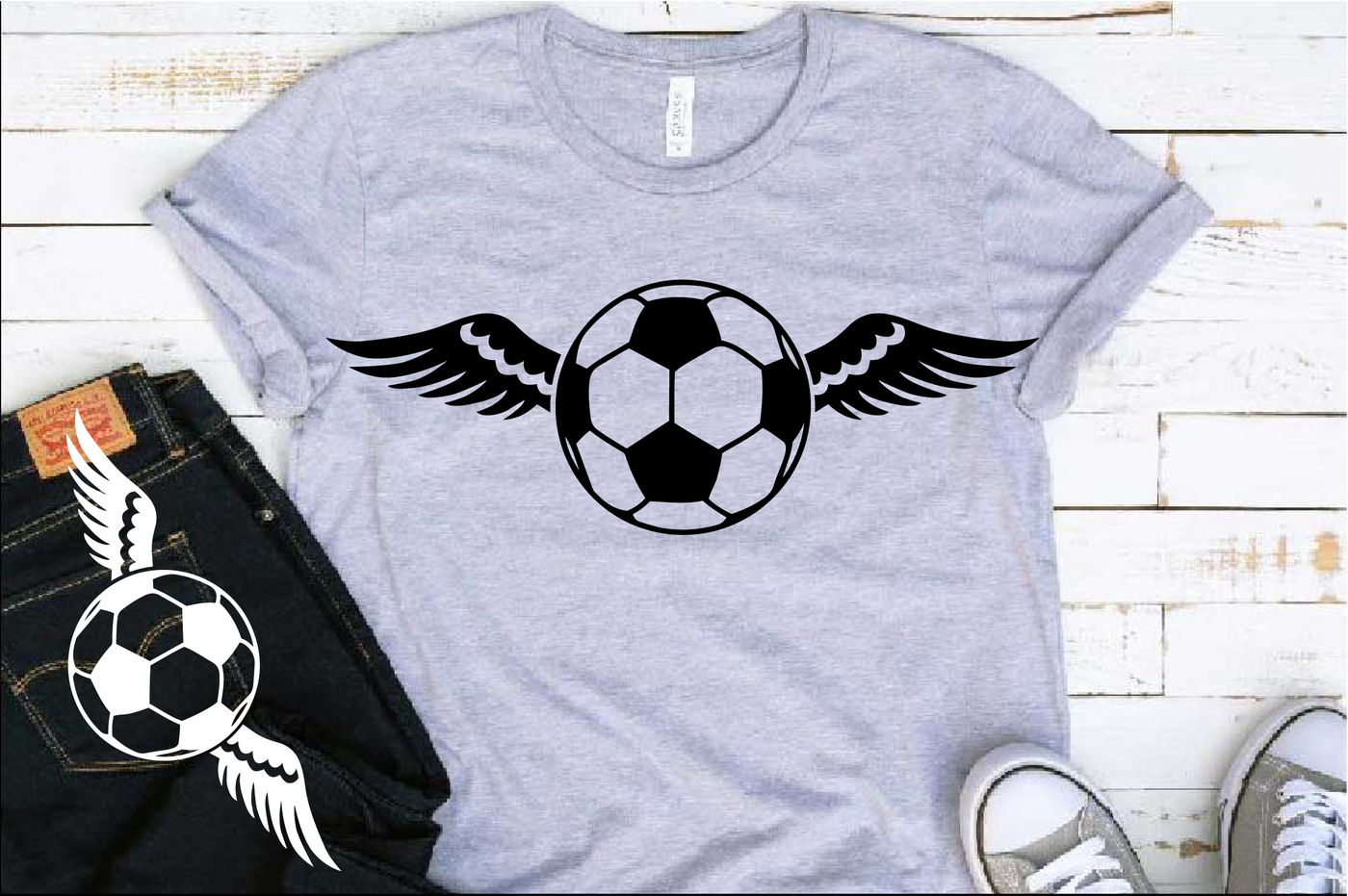 Soccer Wings Svg Valentine S Day Angel Feathers 1200s By Hamhamart