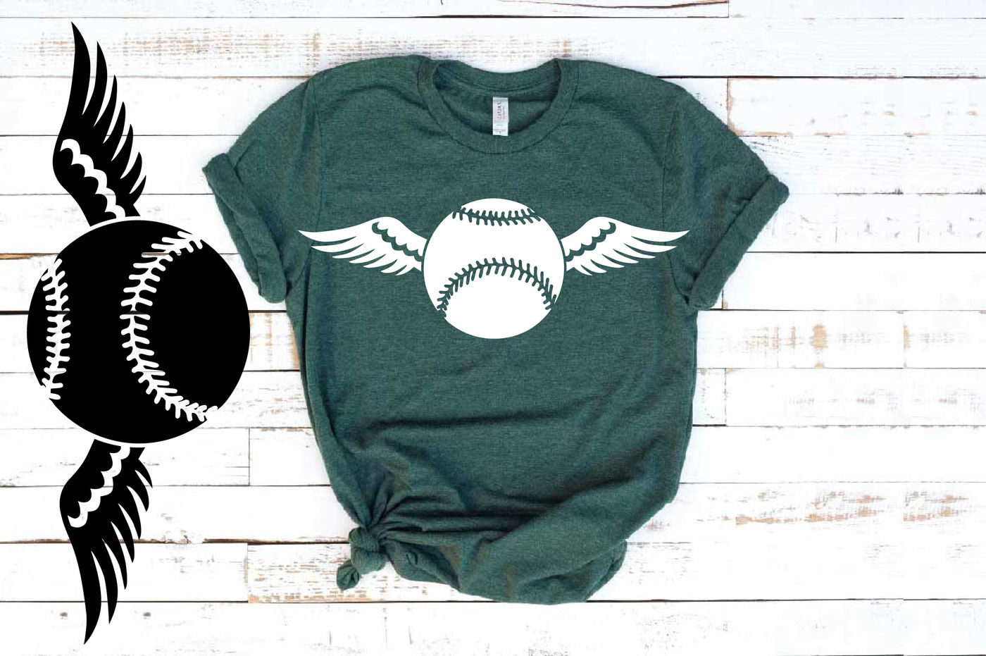 Baseball Wings Svg Valentine S Day Angel Feathers Softball 1201s