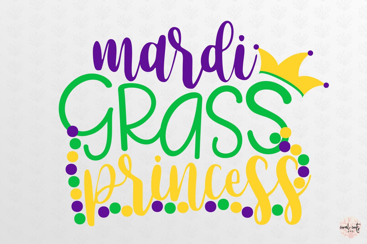 Mardi Gras Princess Mardi Gras Svg Eps Dxf Png By Coralcuts