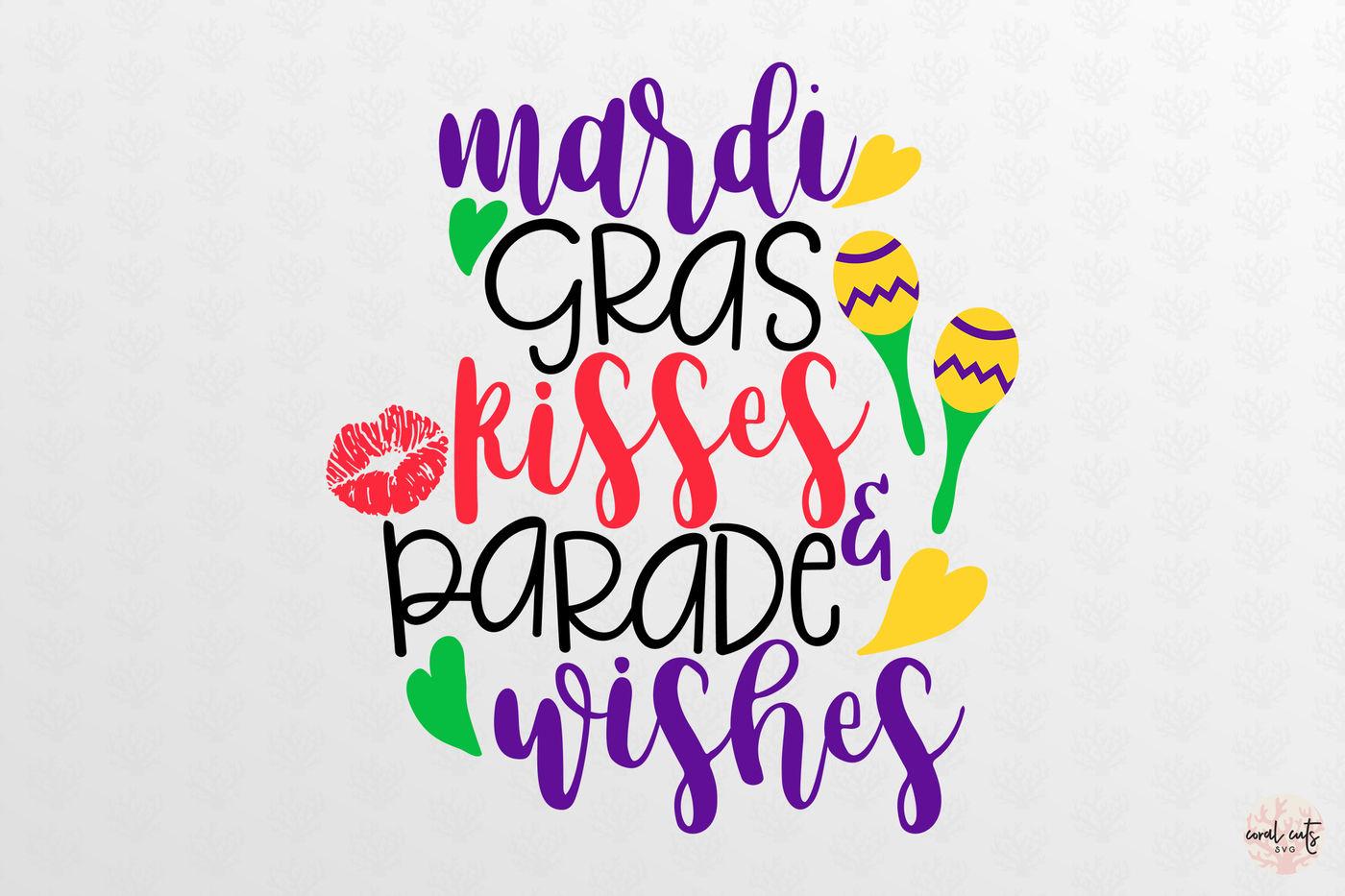 Mardi Gras Kisses Mardi Gras Svg Eps Dxf Png By Coralcuts