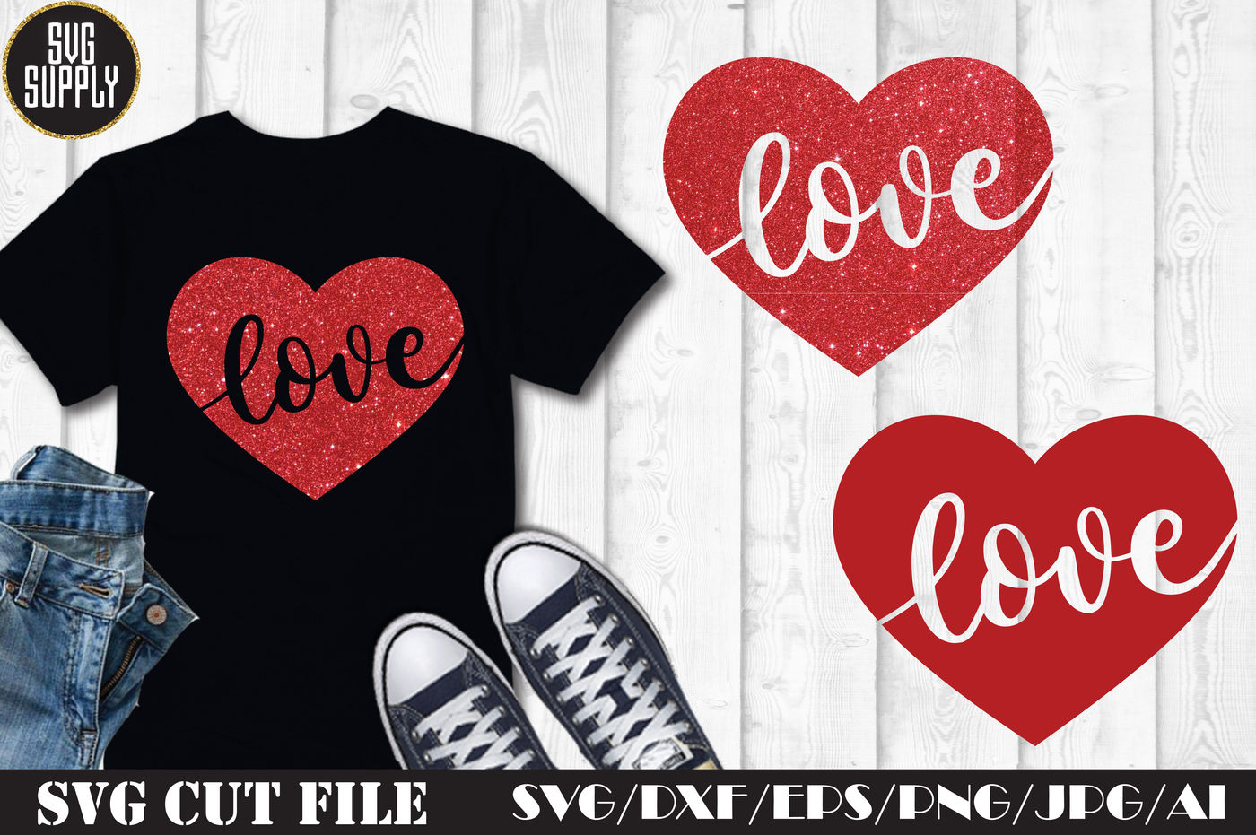 Valentines Love Svg Cut File By Svgsupply Thehungryjpeg Com