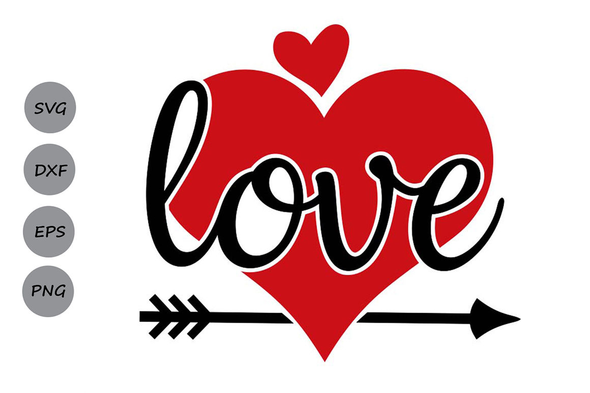 Valentines Day Svg Love Svg Heart Svg Valentine Svg Love Arrow