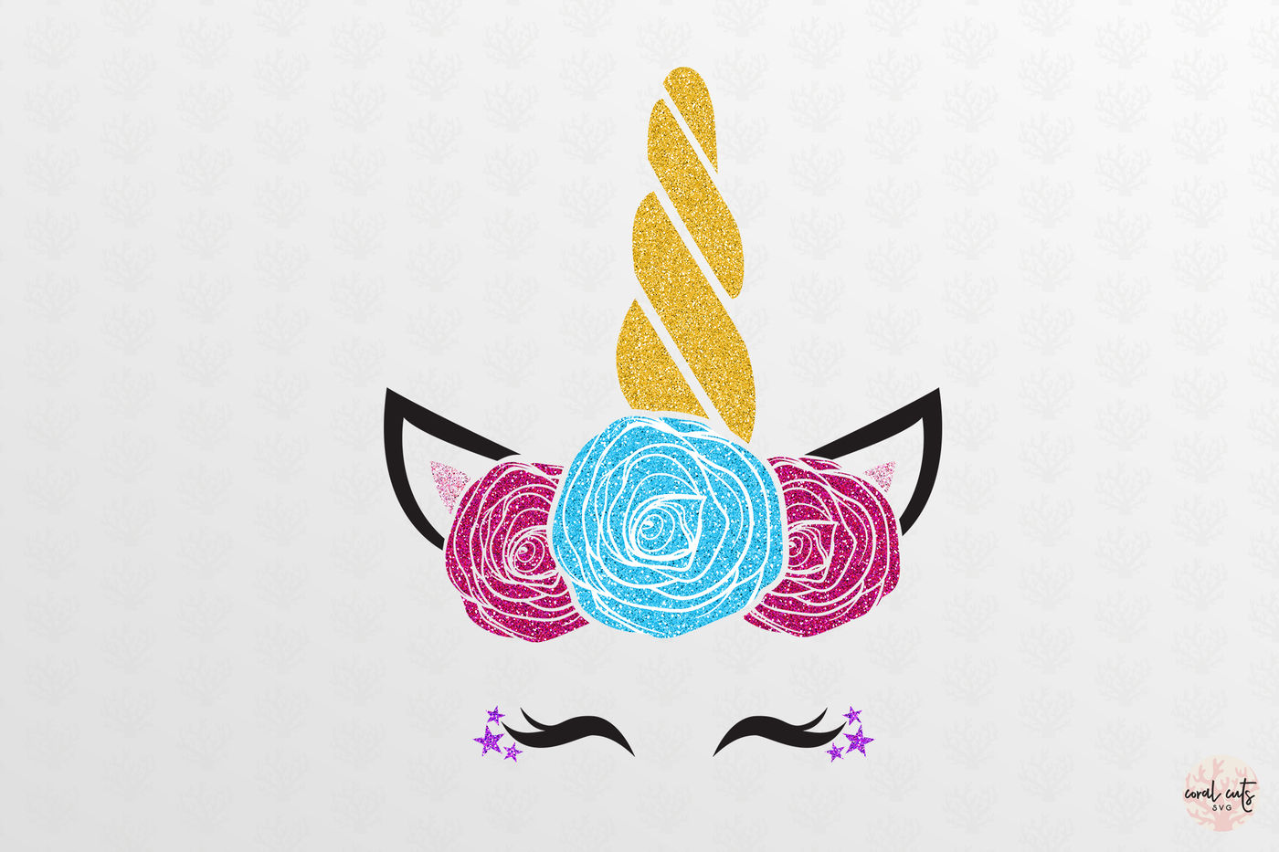 Cute Unicorn Face Unicorn Svg Eps Dxf Png By Coralcuts