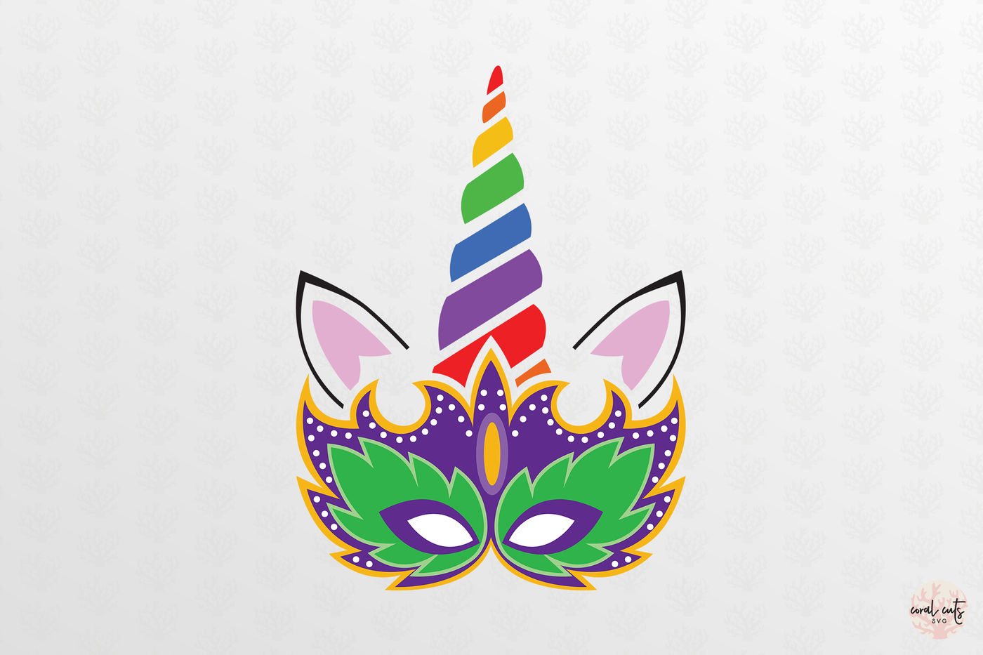Unicorn Face Carnival Masquerade Unicorn Svg Eps Dxf Png By