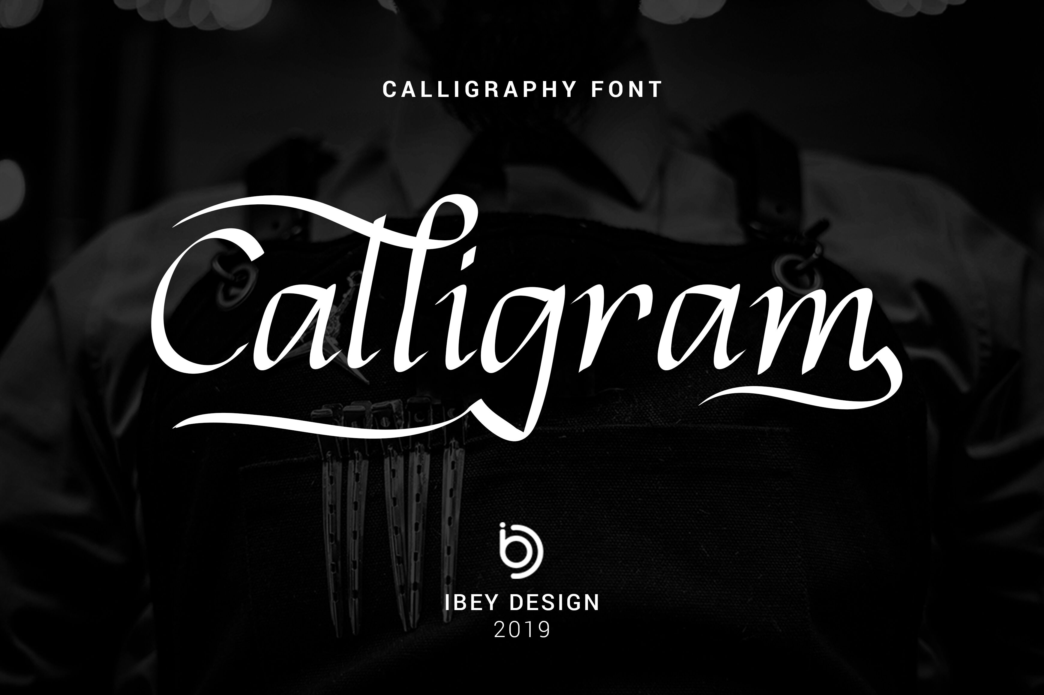 Calligram Stylish Calligraphy Font By Ibey Design