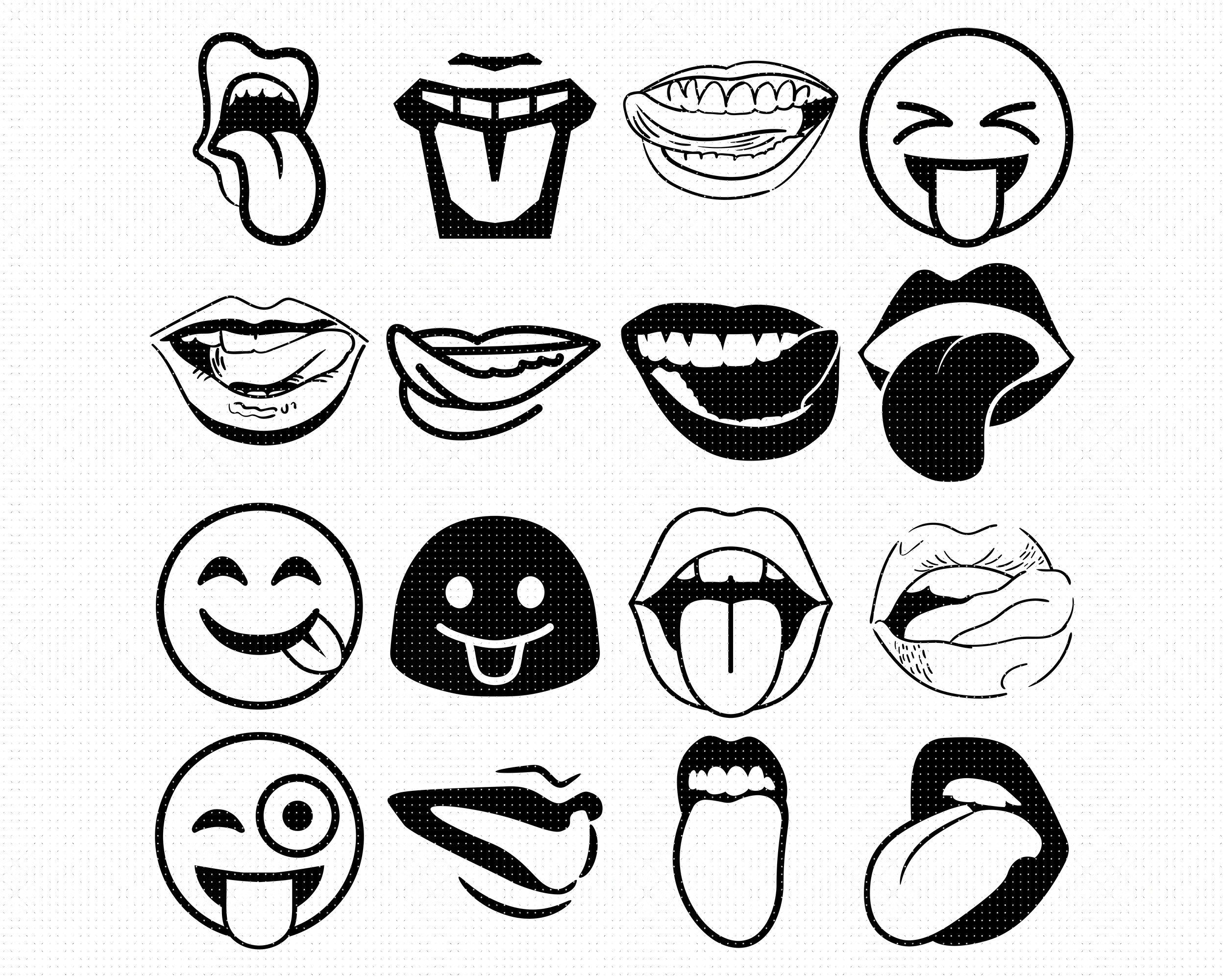 Tongue Stick Out Svg Svg Files Vector Clipart Cricut Download