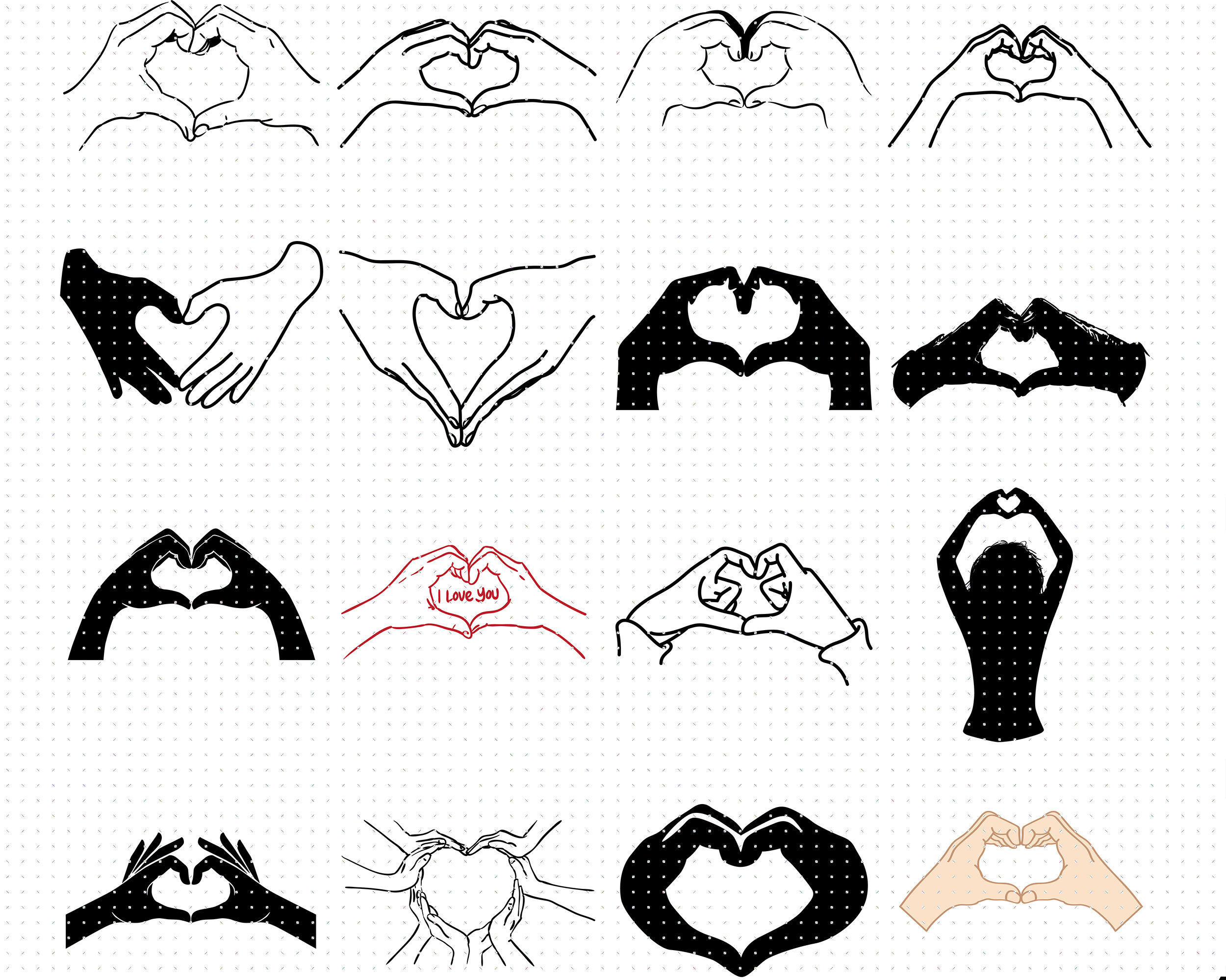 Hand Heart Svg Svg Files Vector Clipart Cricut Download By