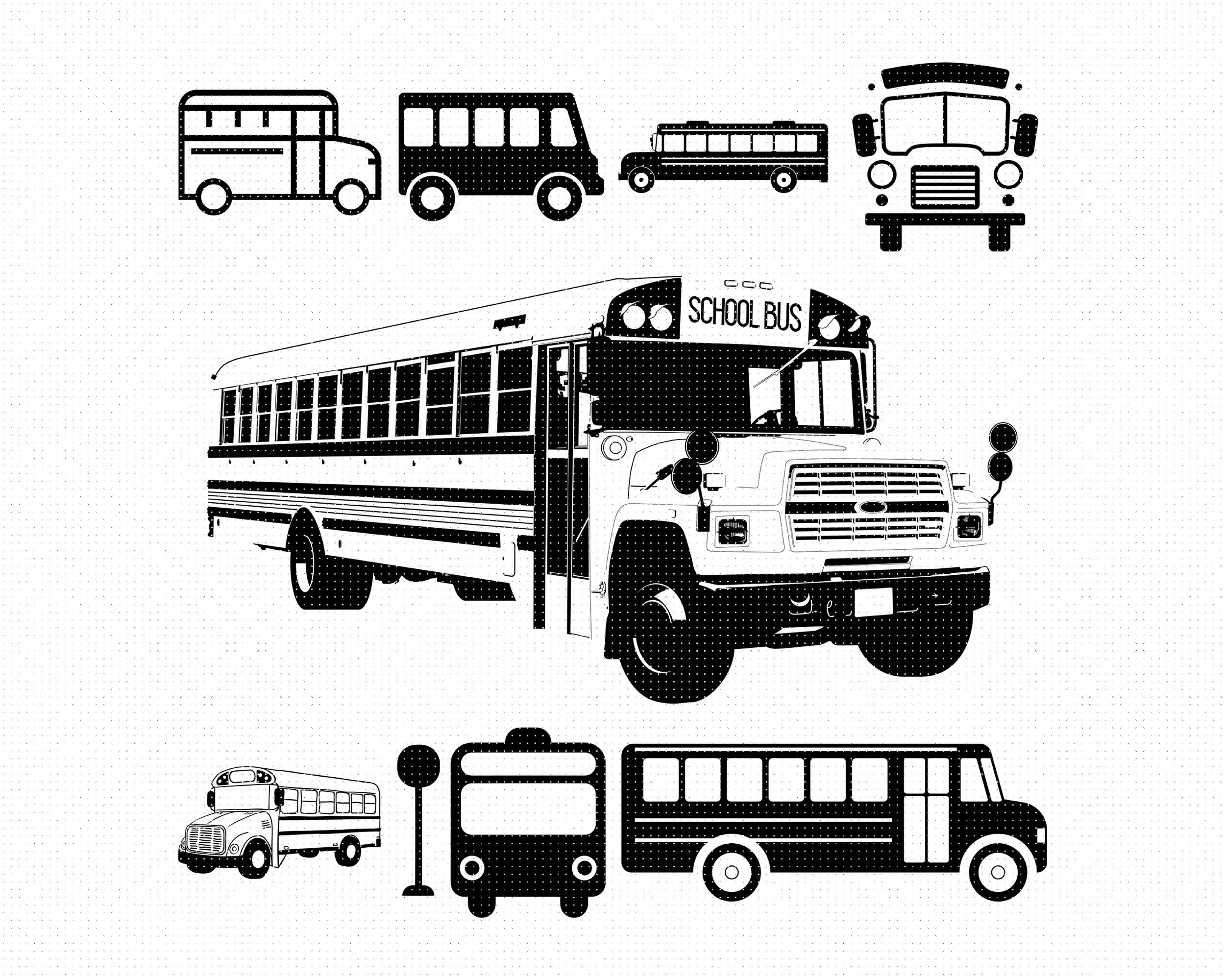 School Bus Svg Svg Files Vector Clipart Cricut Download By