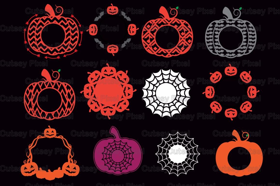 Halloween Pumpkins Monogram Frames Svg Cricut Pumpkin Svg