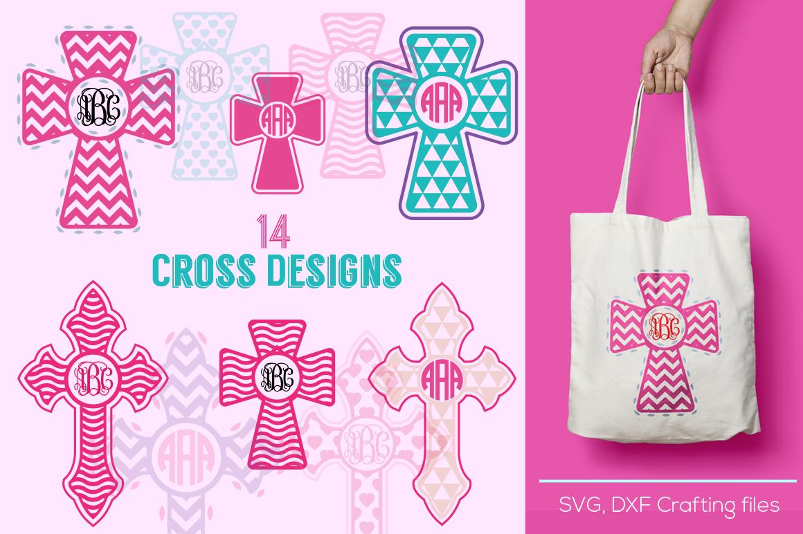 Cross Designs Monogram Frames Svg Cutting File Cricut