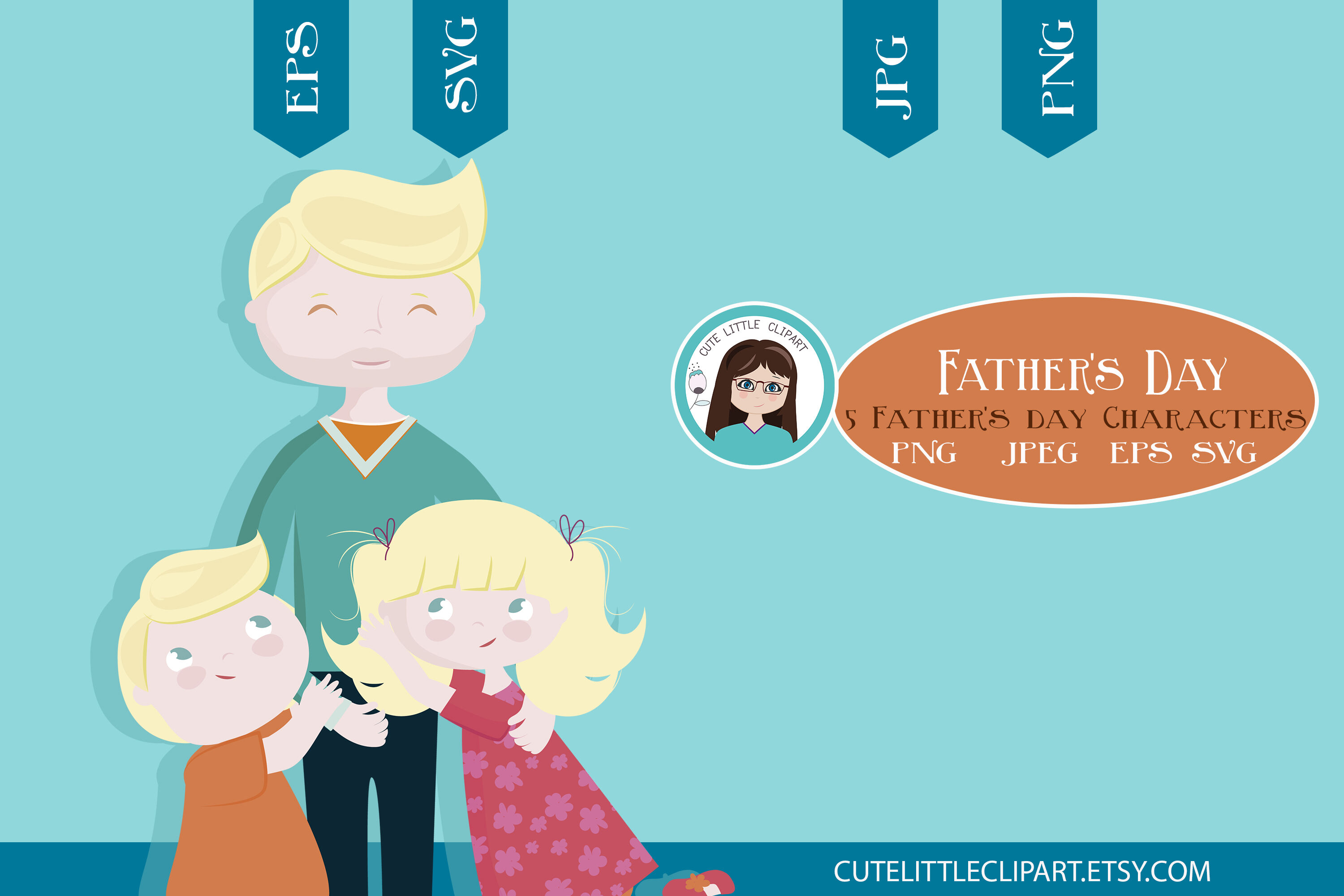 Fathers Day Clipart And Svg By Cute Little Workshop
