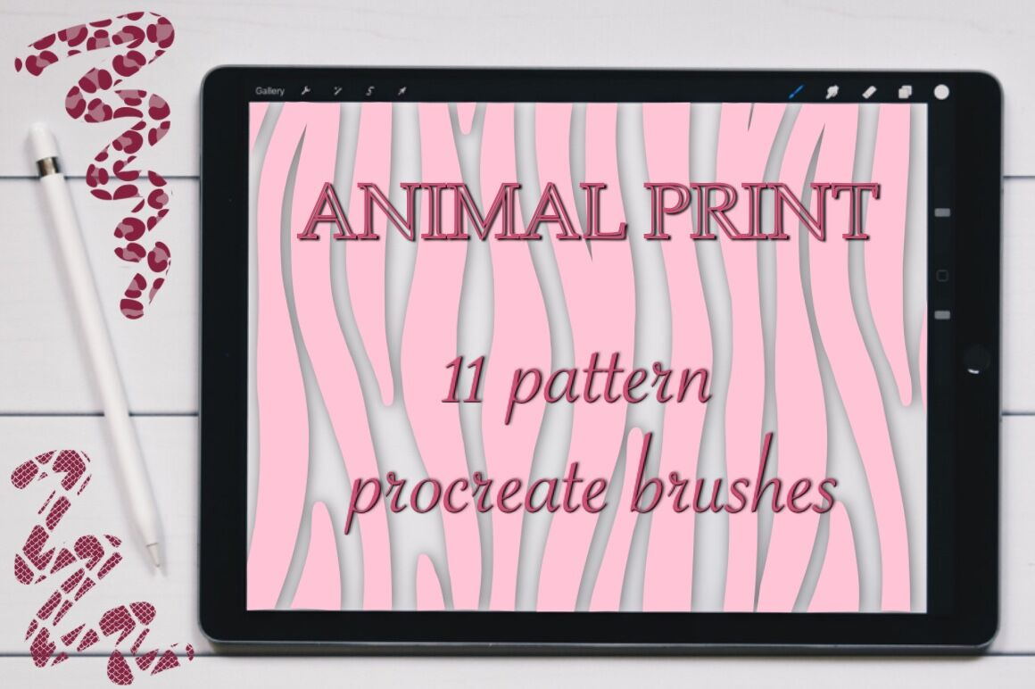 Animal Print seamless pattern brushes for Procreate  By