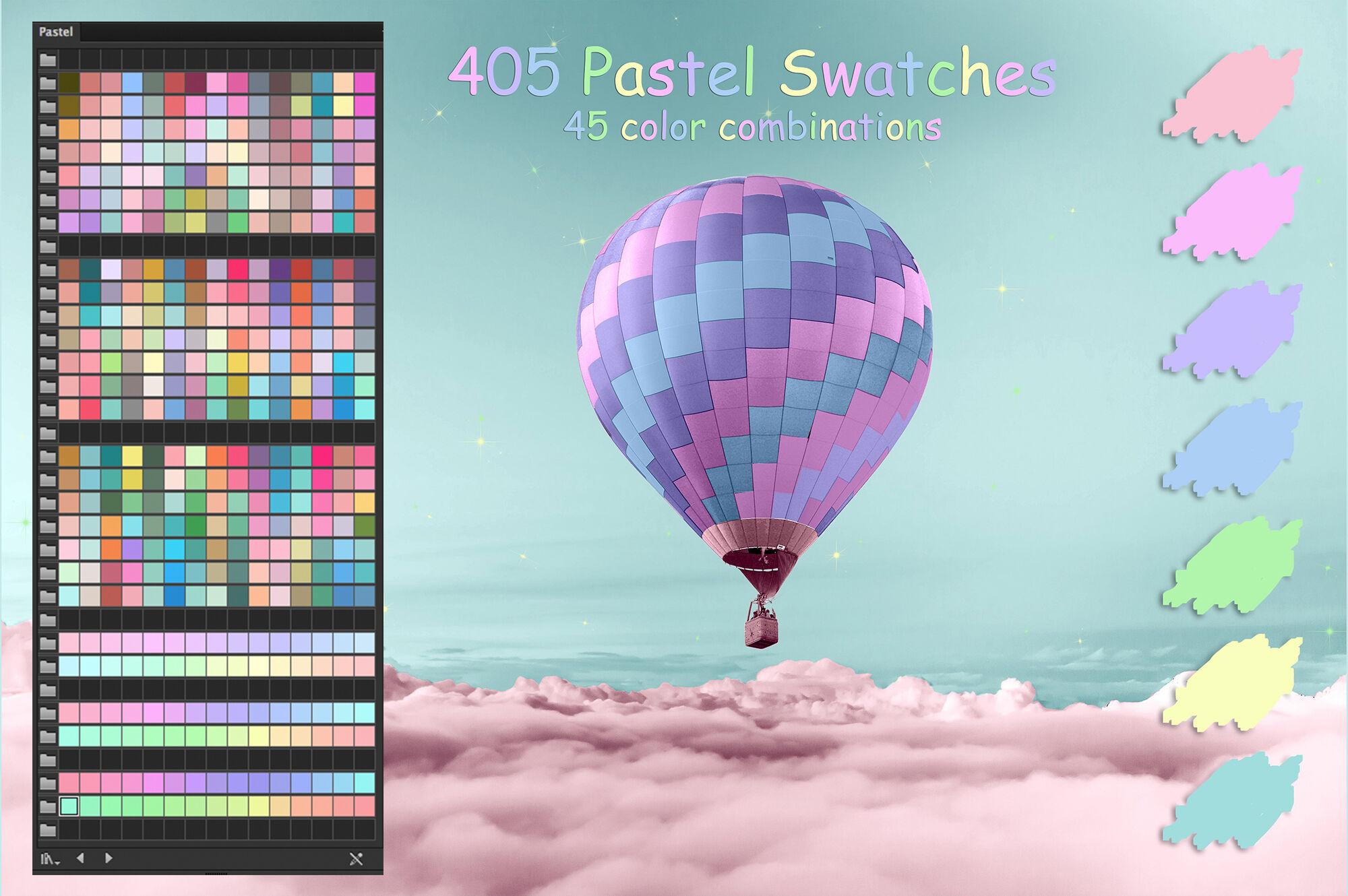 Pastel Colors Swatches By Faerydesign Thehungryjpeg Com