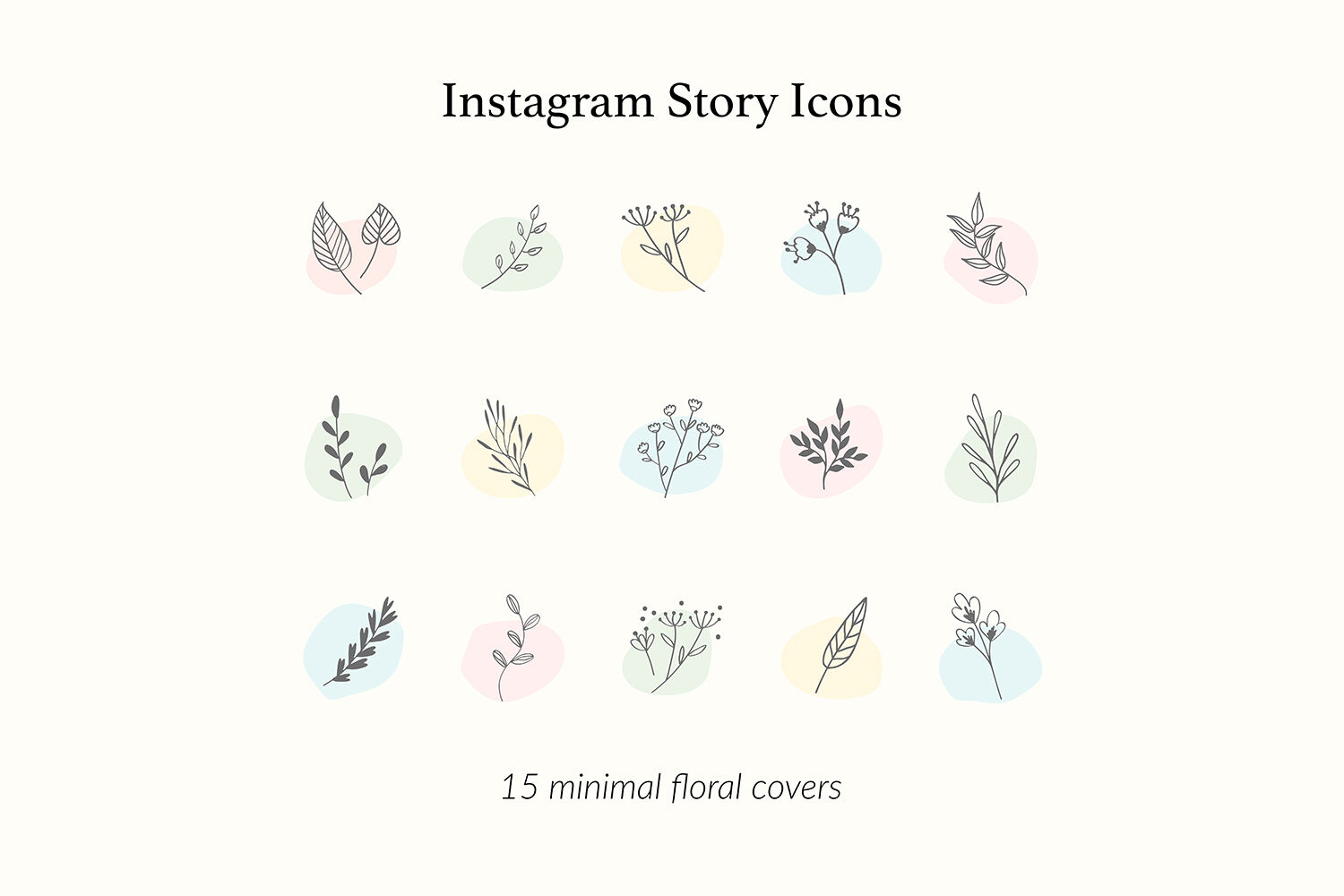 Botanical Instagram Story Icons By North Sea Studio