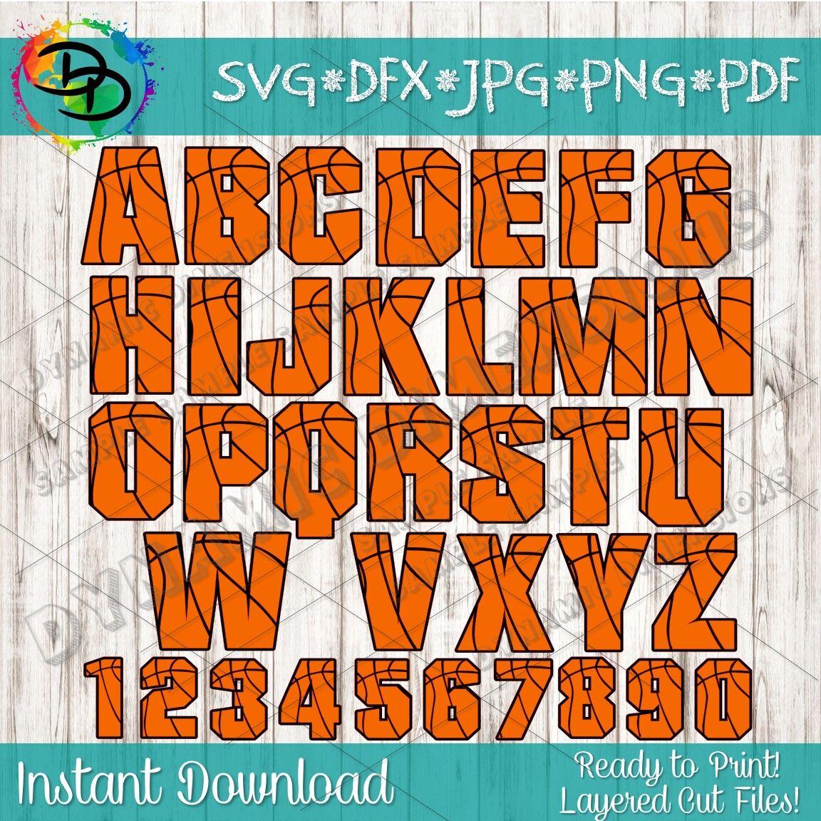 Basketball Svg Basketball Font Alphabet Basketball Letters