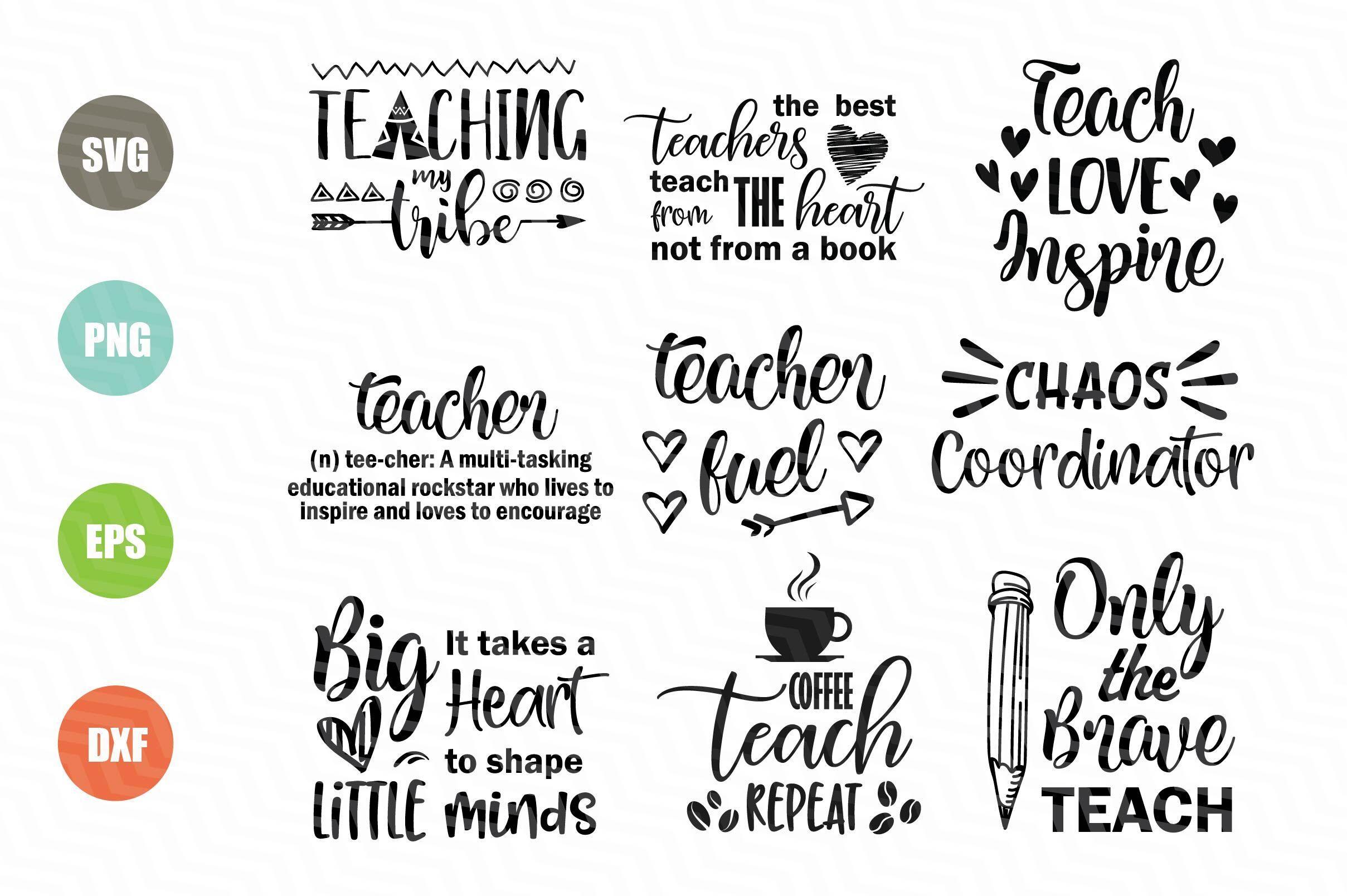 Teacher Svg Bundle By Newsvgart Thehungryjpeg Com