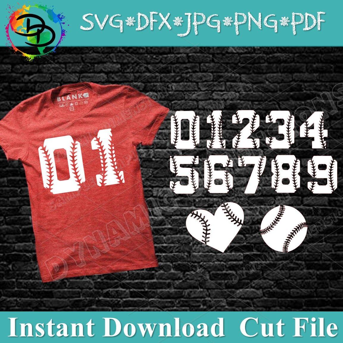 Baseball Svg Baseball Font Alphabet Baseball Numbers Numbers