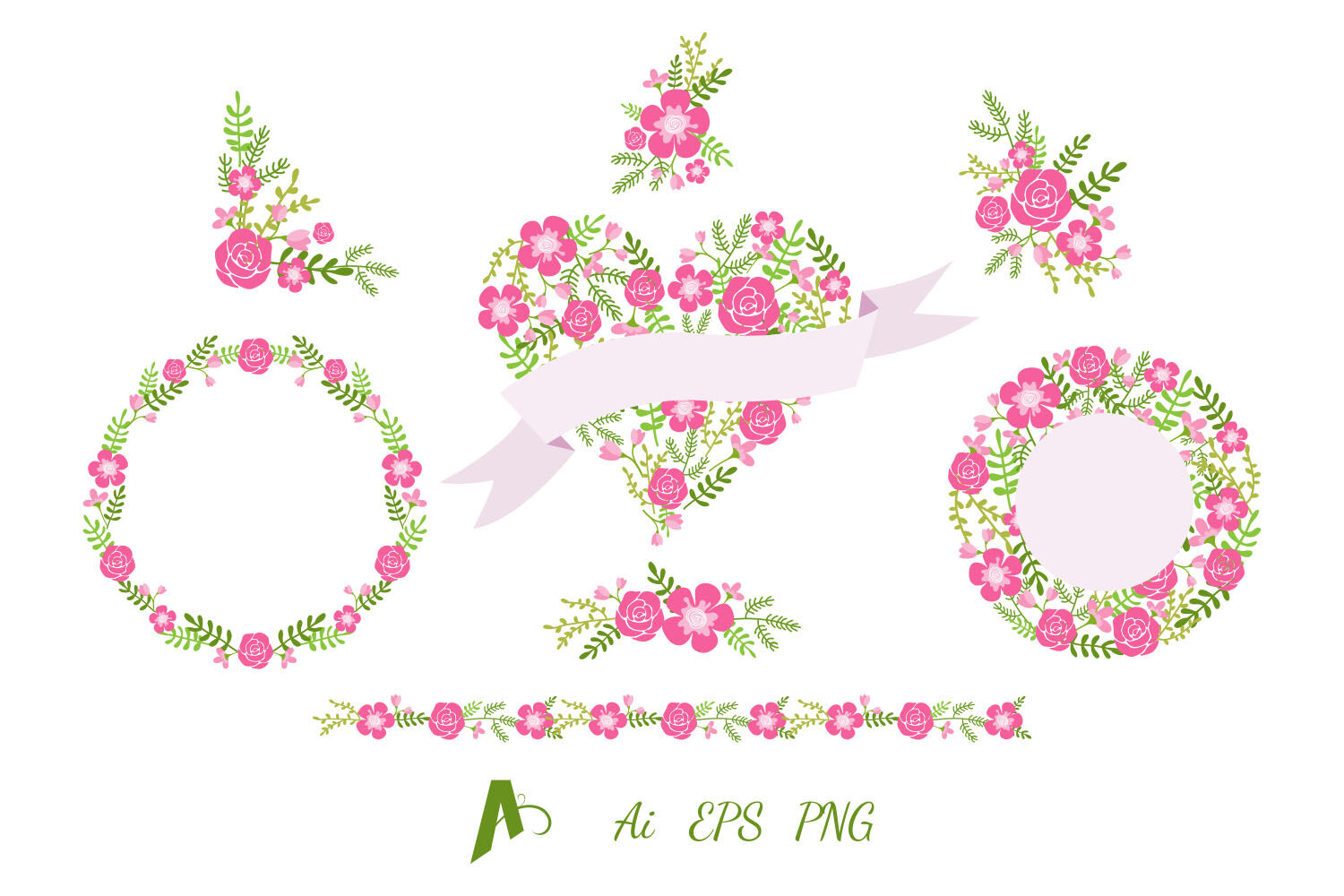 Flowers Clipart Flower Wreath Frame And Border By Aghadhia