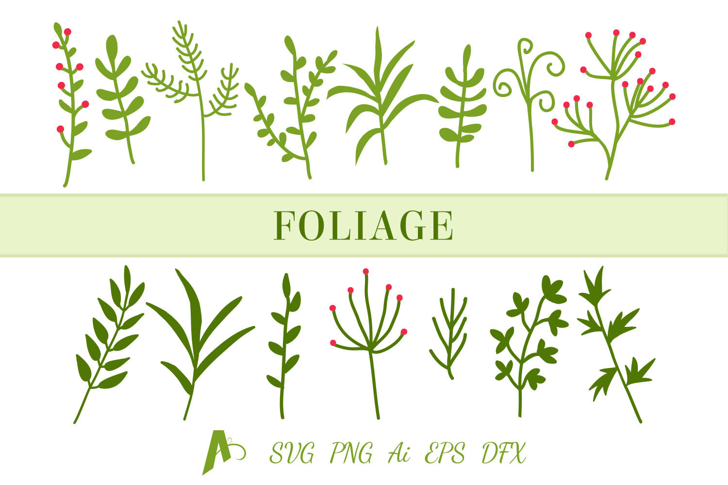 Leaf Svg File Leaf Bundle Foliage And Branches Svg By Aghadhia