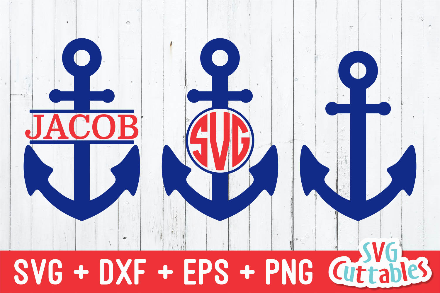 Anchor Set Summer Svg Cut File By Svg Cuttables