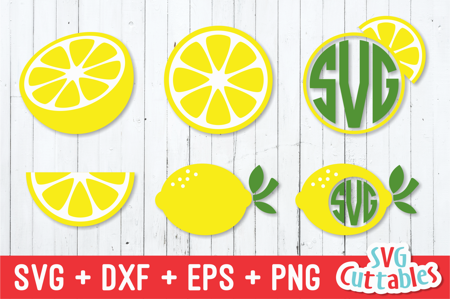 Lemon Set Summer Svg Cut File By Svg Cuttables Thehungryjpeg Com