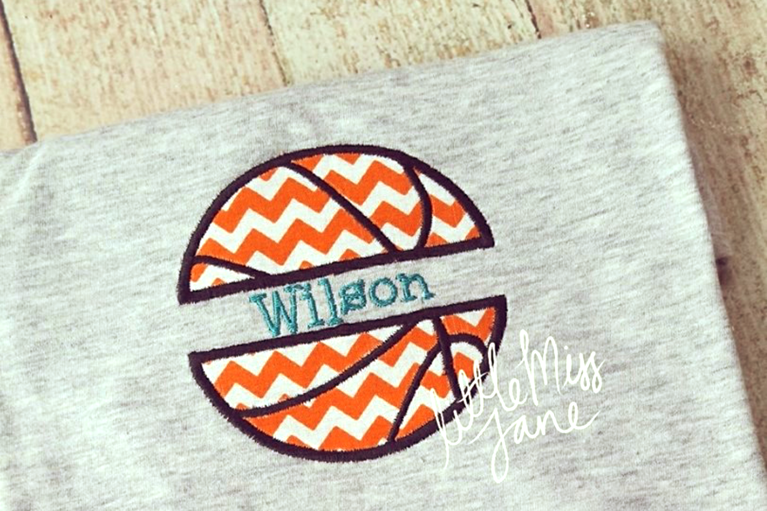 Basketball Split Applique Embroidery By Designed By Geeks