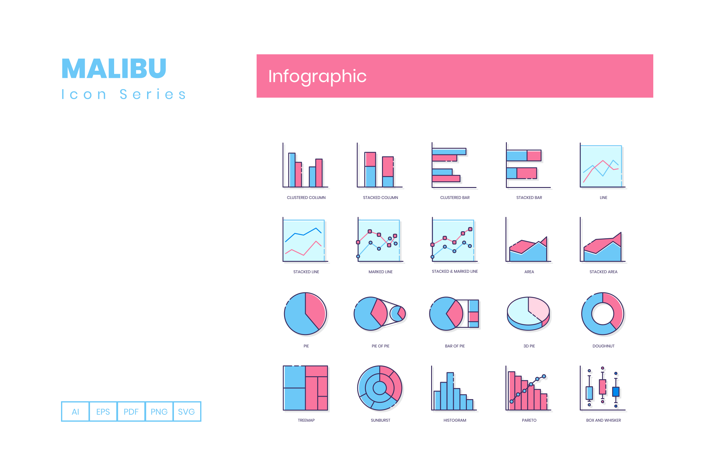 75 Infographic Icons By Flat Icons Thehungryjpeg Com