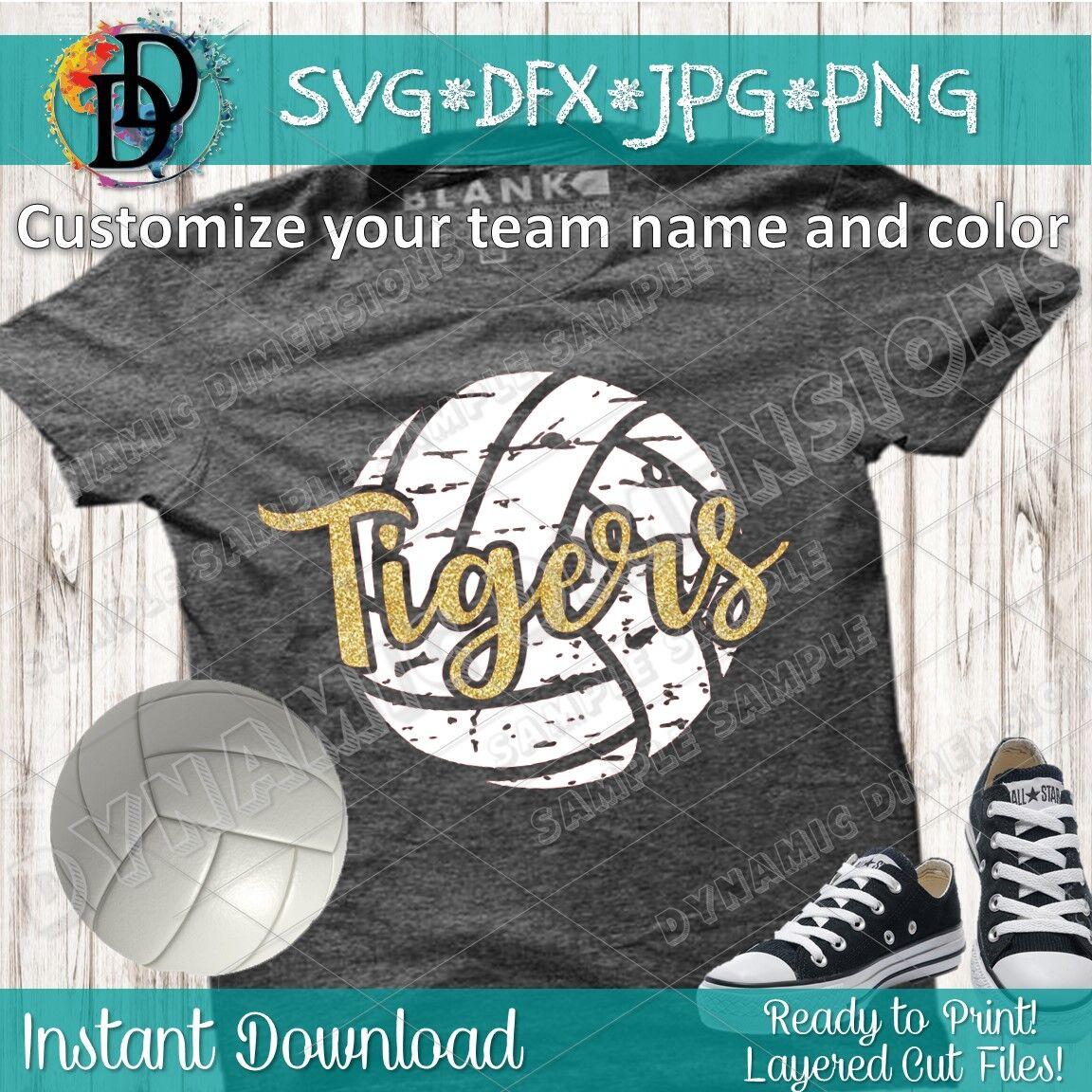 Volleyball Svg Tigers Svg Volleyball Svg Tigers Svg