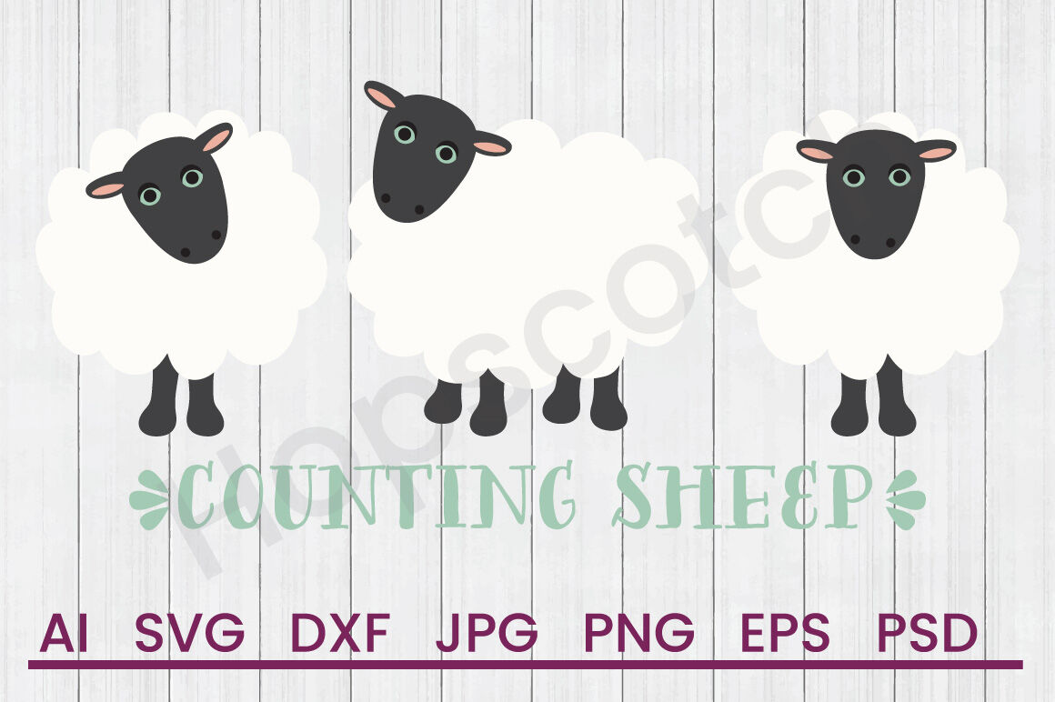 Counting Sheep Svg File Dxf File By Hopscotch Designs