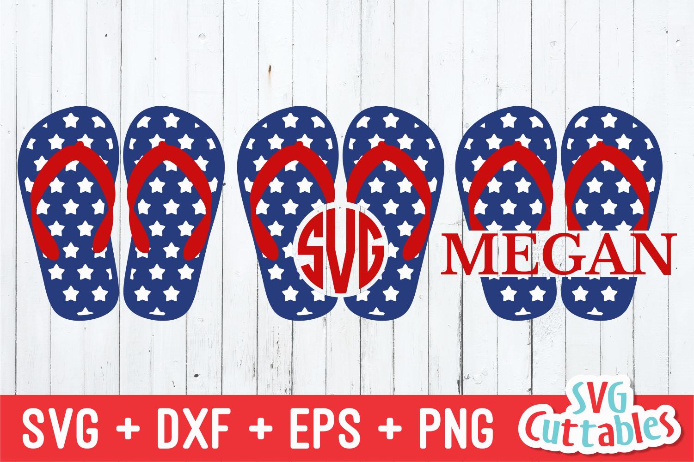 Patriotic Flip Flops Fourth Of July Svg Cut File By Svg