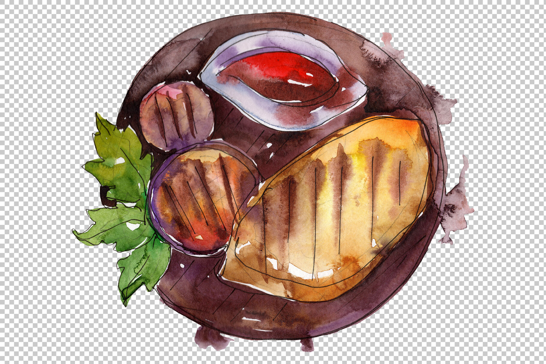 Watercolor Steaks Png By Mystocks Thehungryjpeg Com