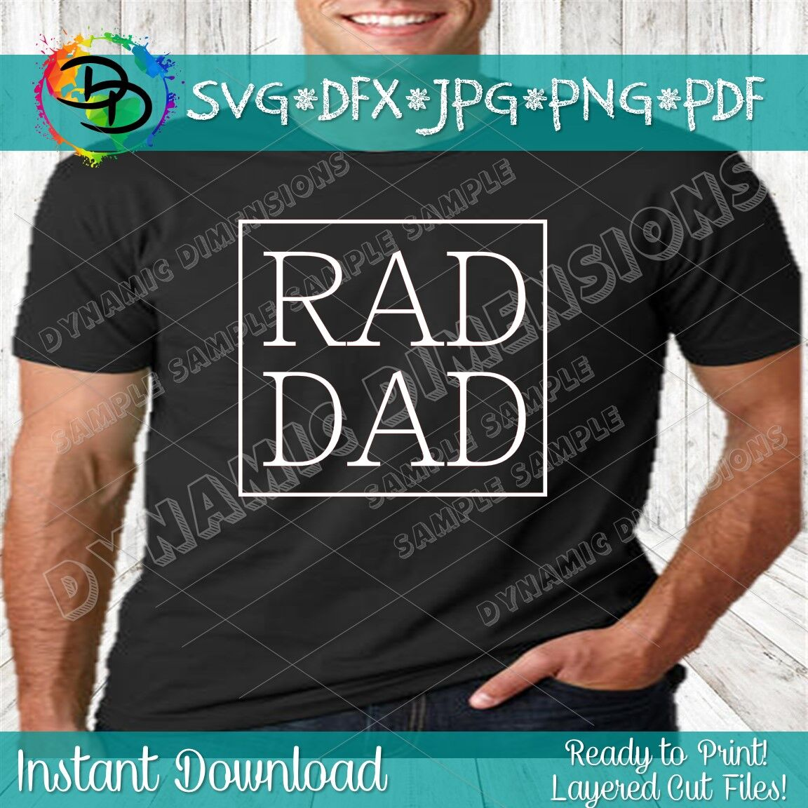 Free Free vector icons in svg, psd, png, eps and icon font. Rad Dad Svg Dad Svg File Father S Day Svg Funny Dad Shirt Great F By Dynamic Dimensions Thehungryjpeg Com SVG, PNG, EPS, DXF File
