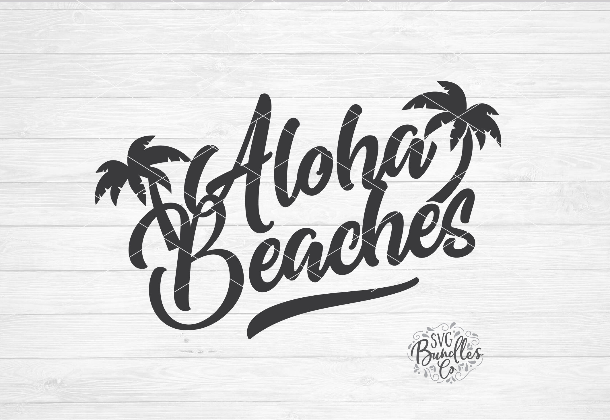 Aloha Beaches, Summer Hawaii SVG DXF PNG By SVGBundlesCo