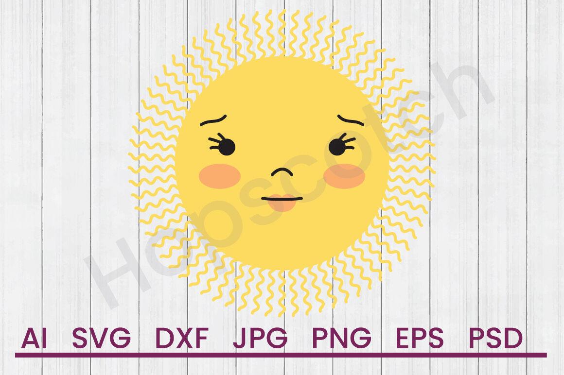 Sun Face Svg File Dxf File By Hopscotch Designs Thehungryjpeg Com