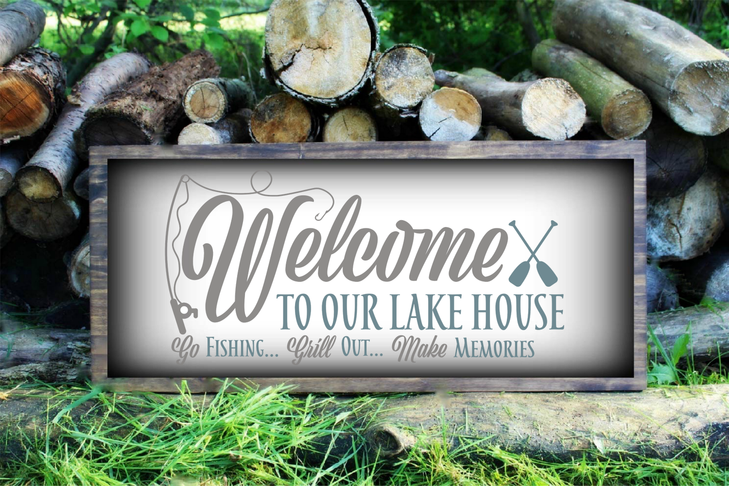Welcome To Our Lake House Svg By Morgan Day Designs