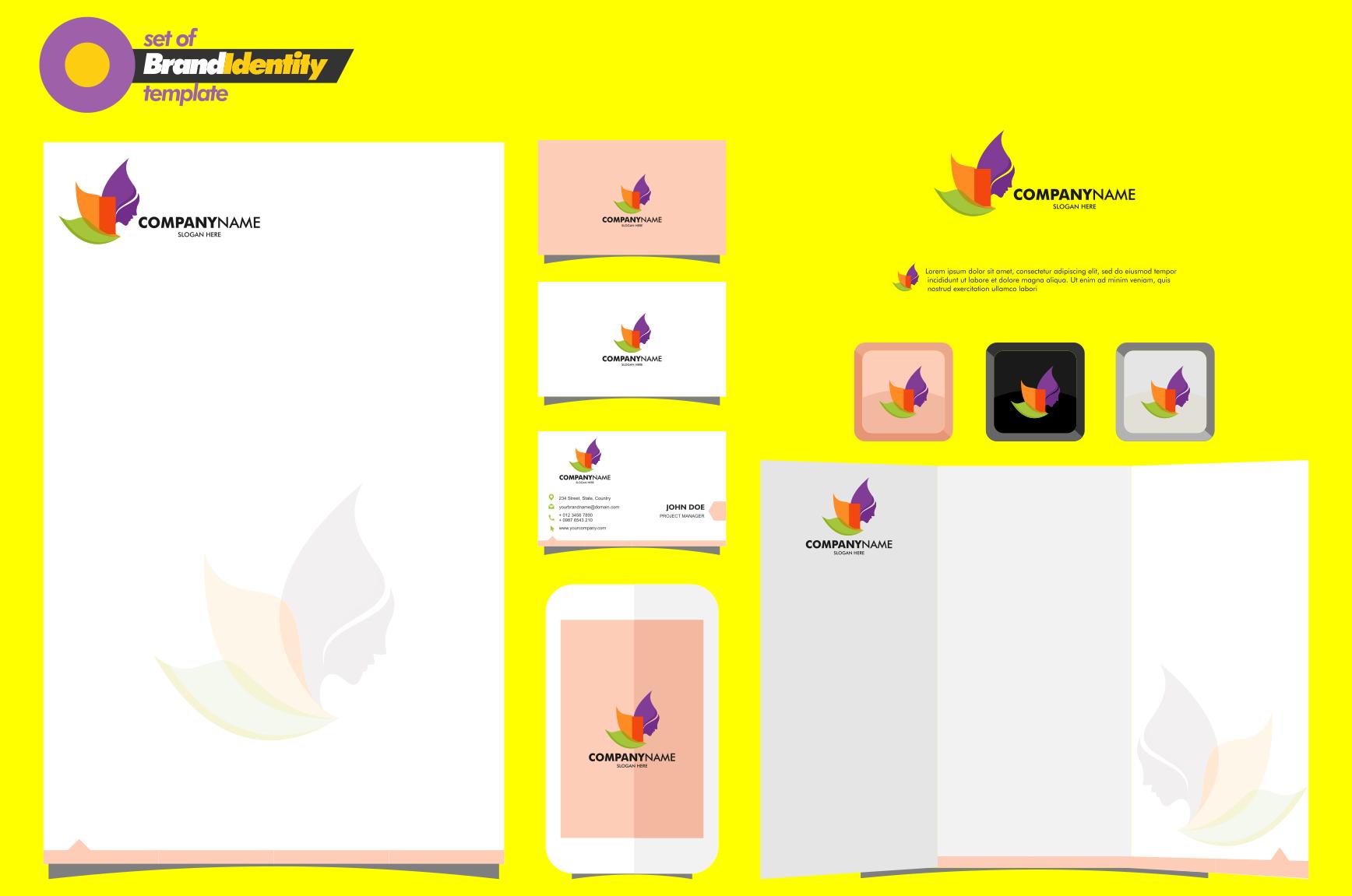 Yoga Logo Template By Ahsancomp Studio Thehungryjpeg Com