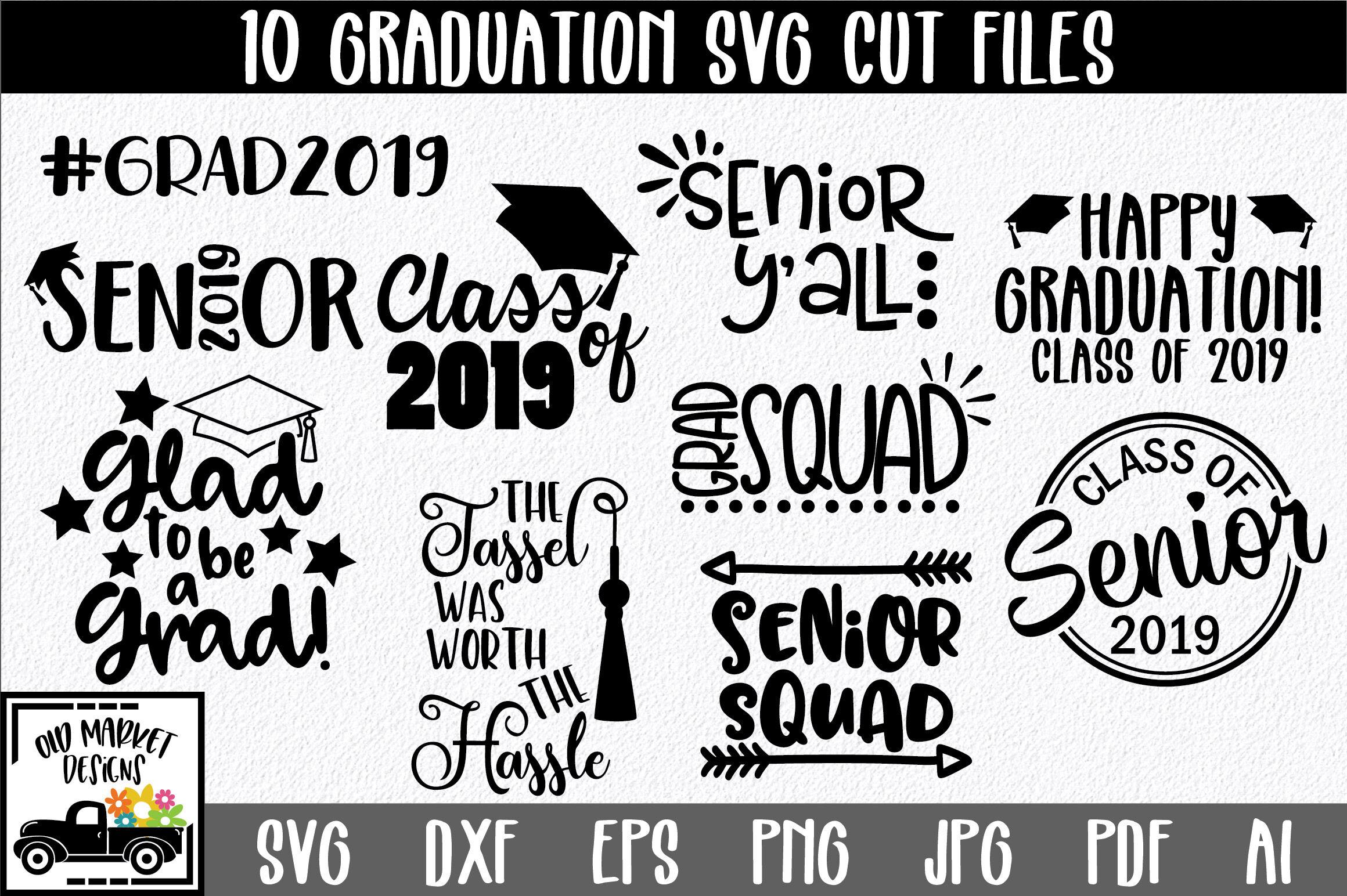 Graduation Svg Mini Bundle With 10 Svg Cut Files By Shannon Keyser