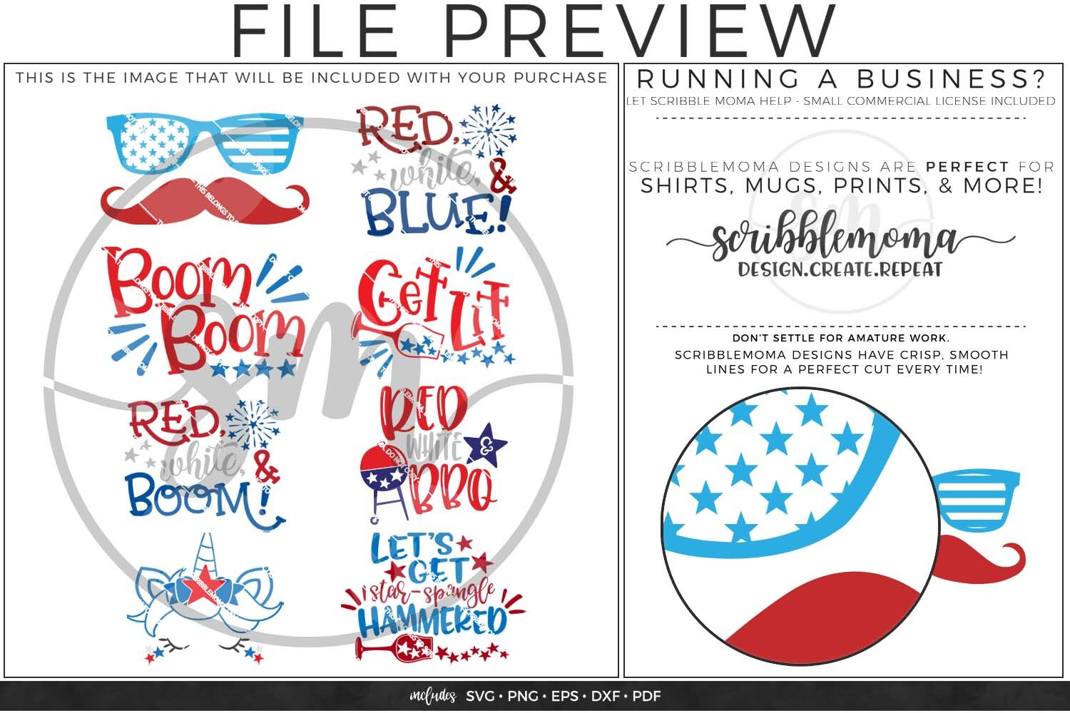 July 4th Svg Bundle By Scribblemoma Graphics Thehungryjpeg Com
