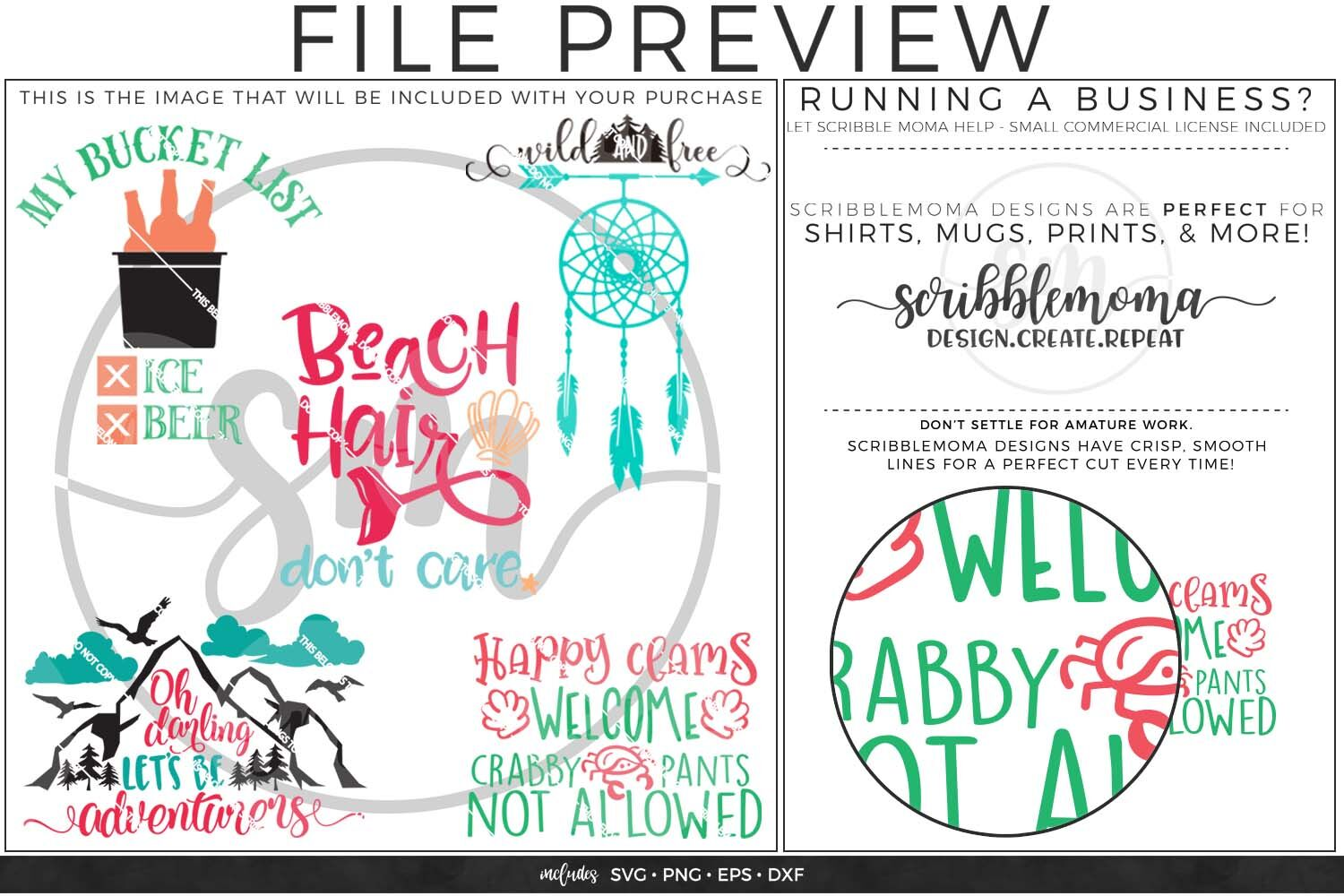 Summer Pack 2 Svg Bundle By Scribblemoma Graphics Thehungryjpeg Com