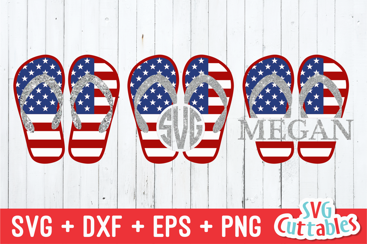 Flag Flip Flops 4th Of July Svg Cut File By Svg Cuttables