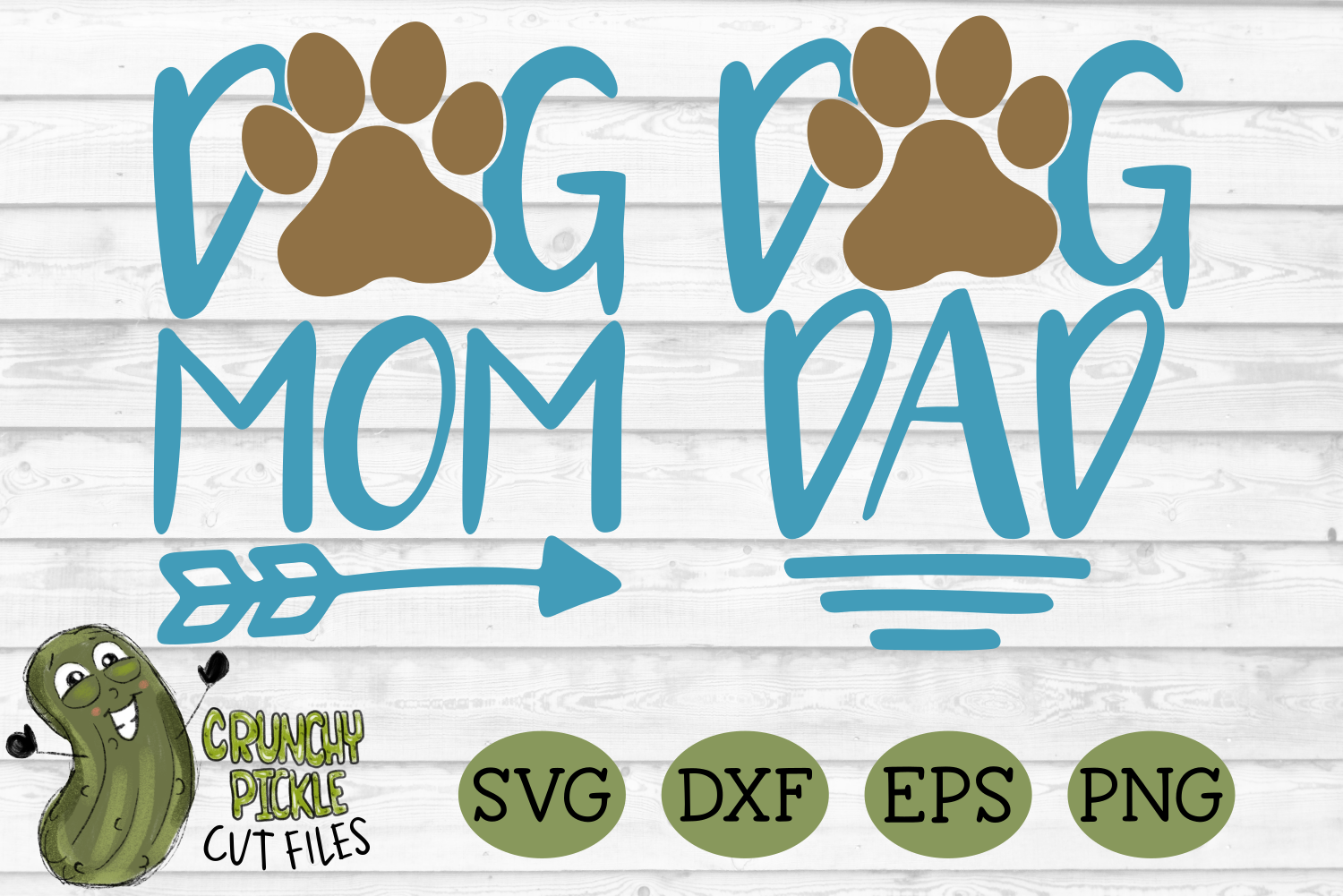 Dog Mom And Dog Dad Matching Svg By Crunchy Pickle Thehungryjpeg Com