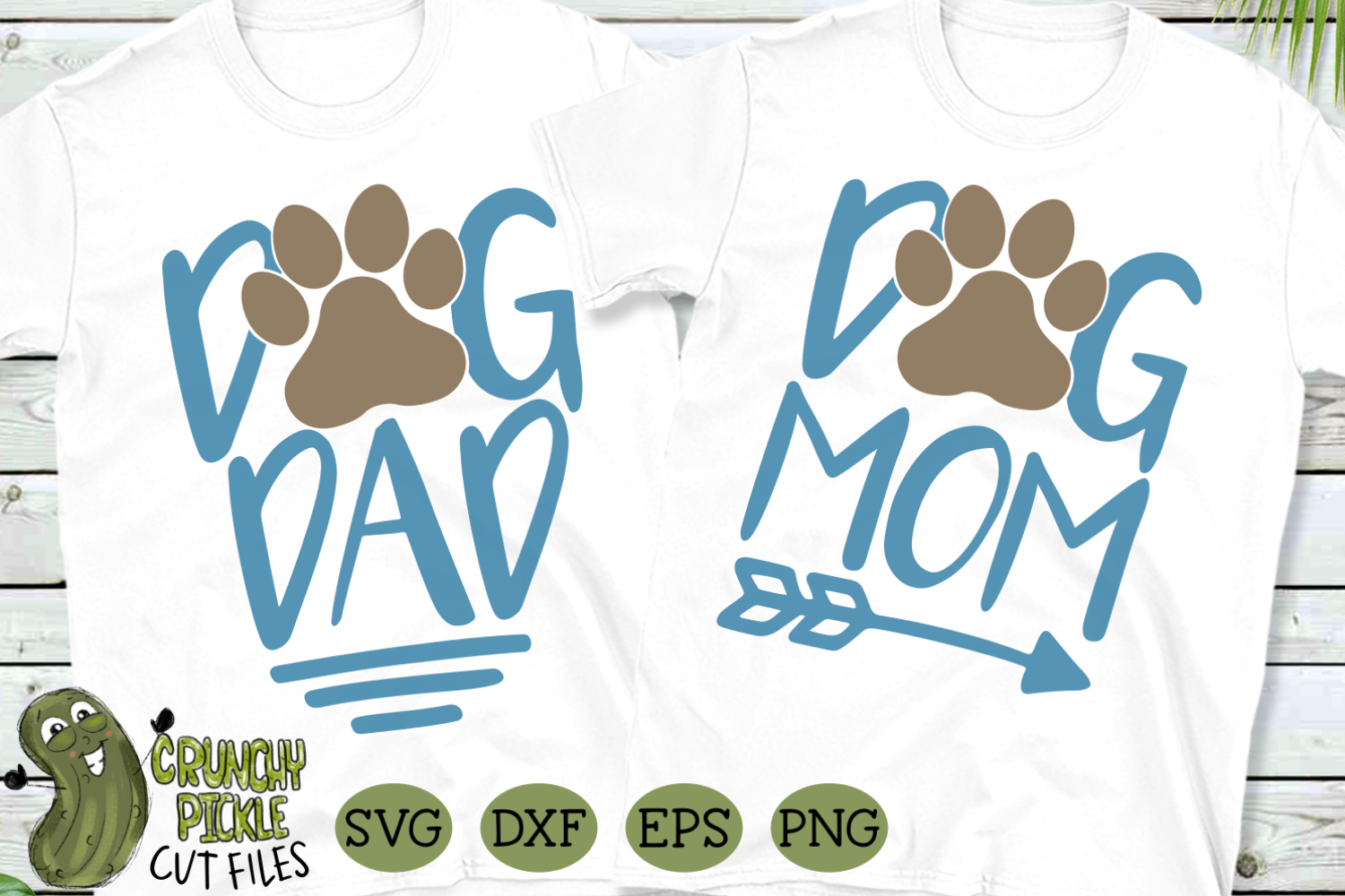 Dog Mom And Dog Dad Matching Svg By Crunchy Pickle