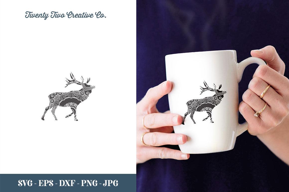Deer Zentangle Cut File Svg Eps Dxf Jpg Png By Twentytwo