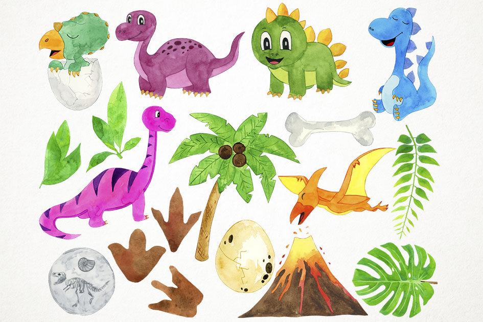 Watercolor Dinosaurs Clipart Dinosaurs Clip Art Dino Clipart Dino