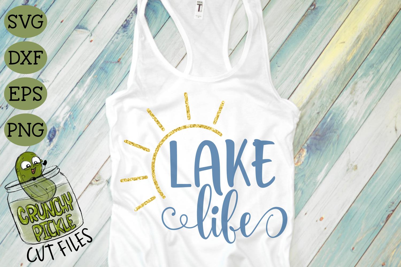 Lake Life Sun Svg By Crunchy Pickle Thehungryjpeg Com