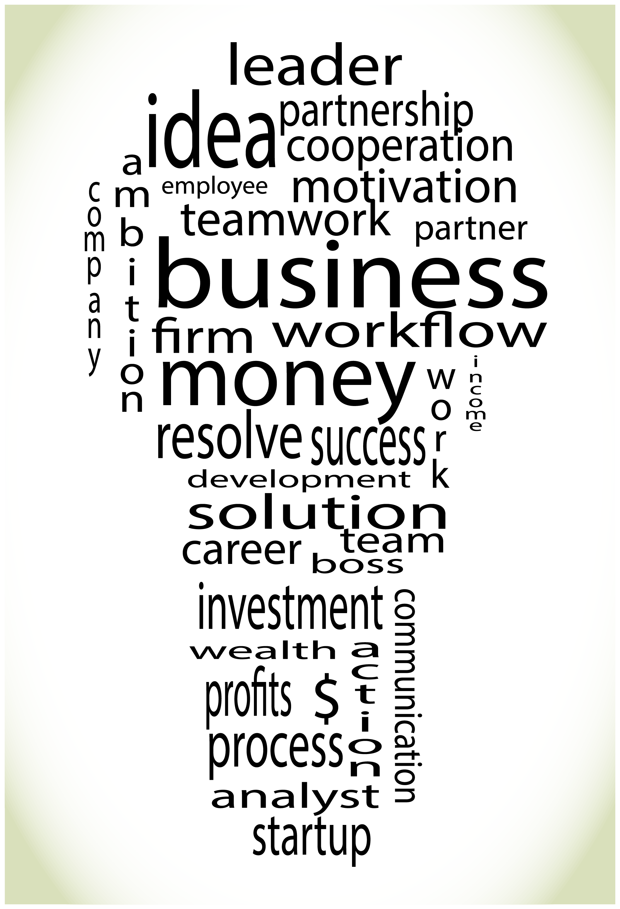 Wordcloud Business Lightbulb Colorful By 09910190 Thehungryjpeg Com