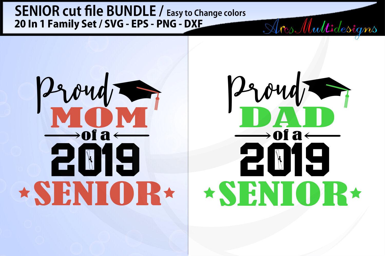 Proud Seniors Svg Cut File Bundle Proud Mom Of A 2019 Senior Svg