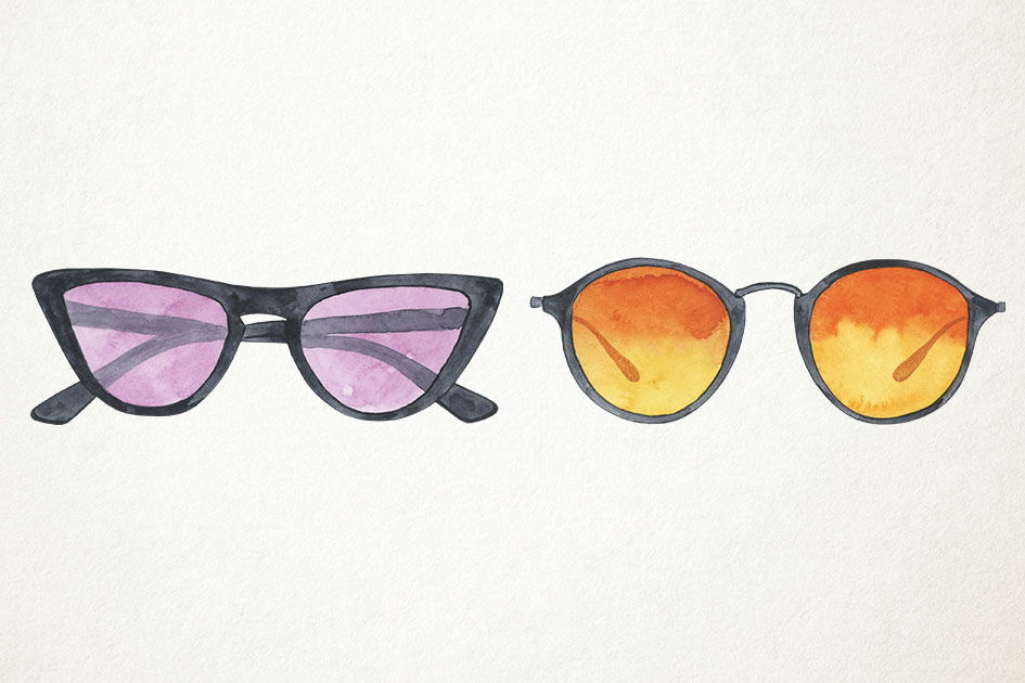 8819fb3a942 Watercolor Sunglasses Clipart, Glasses Clipart, Glasses Clip Art By ...