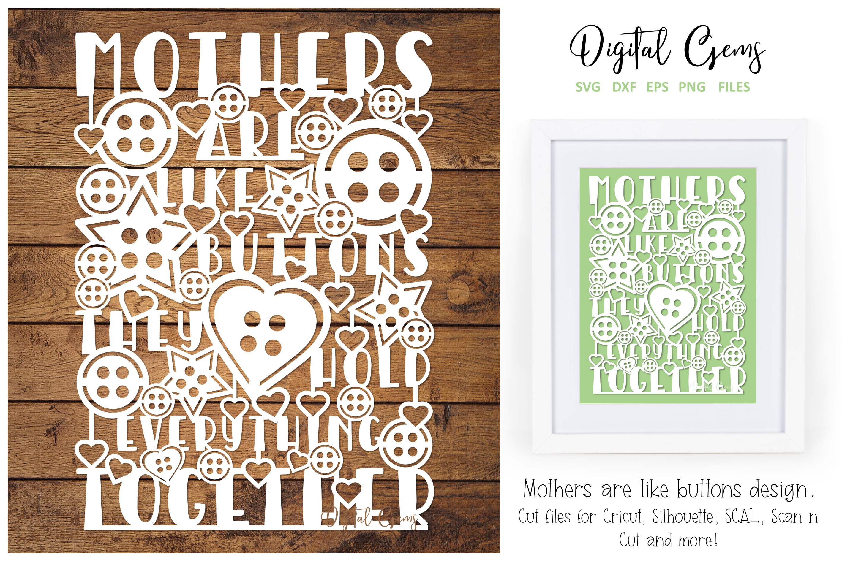 Mothers Are Like Buttons Design By Digital Gems Thehungryjpeg Com